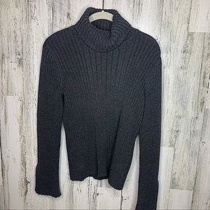 Calvin Klein Jeans Large Gray Turtle Neck Sweater